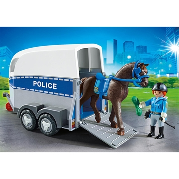 Police with Horse and Trailer 6922