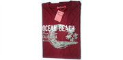 Ocean beach t-shirt xl bordeaux